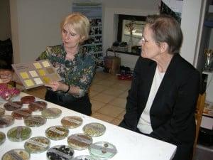 r. Katarzyna Schmidt-Przewosna viser Hanne Gjendem farge eksempler