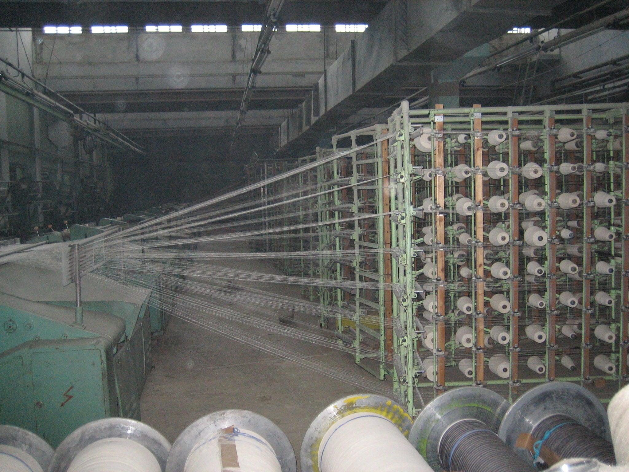 Spinnefabrikk, Vologda, Russland