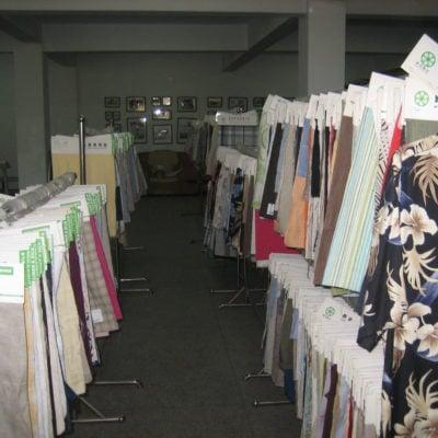 Kina Linfabrikk, tekstilprøver av lin- og silkeblandinger