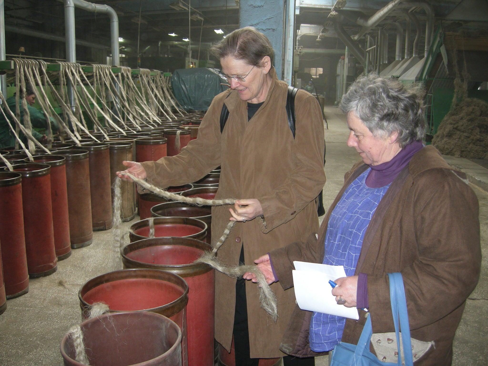 Linfabrikk i Polen