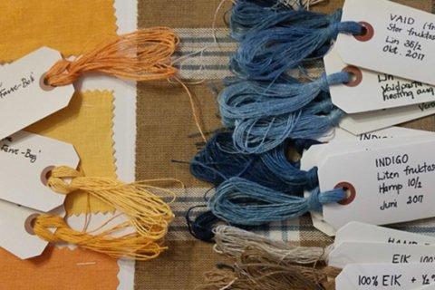 Rapport om plantefarging av lin og hamp Foto: Inger Smedsrud